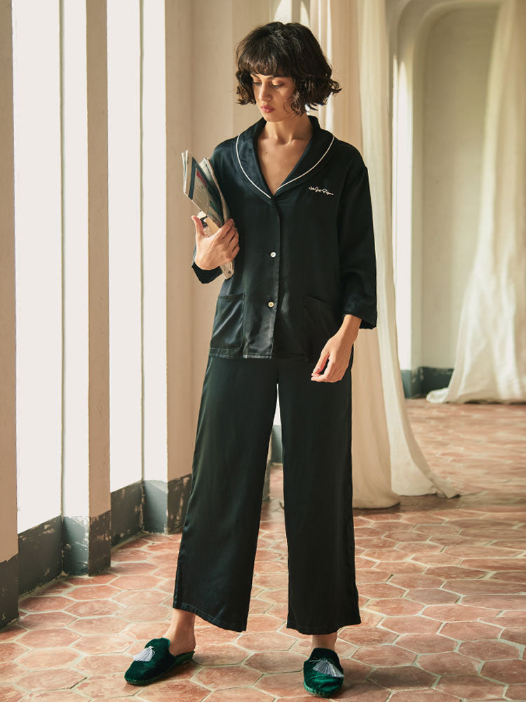 Navy Style Pajama Set - Not Just Pajama