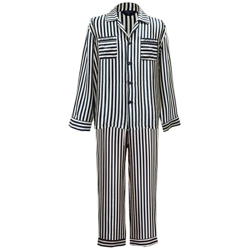 Men's Stripes Suit Pajama Set - 2 Pieces - Not Just Pajama