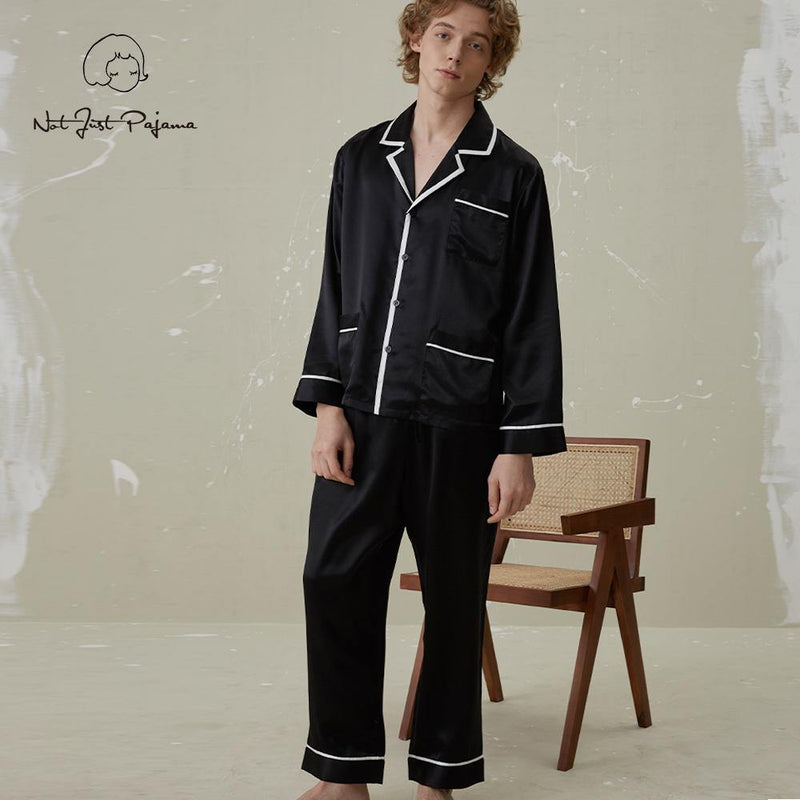 Coco Men | Style Silk Pajamas 2-Piece Set - Not Just Pajama