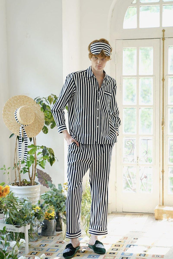 Cotton Stripe Pajama Set For Men & Women - Not Just Pajama