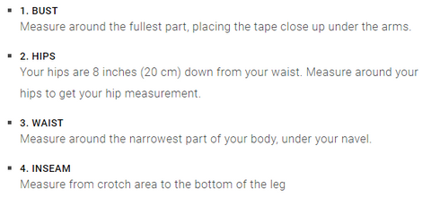 how to measure your body size