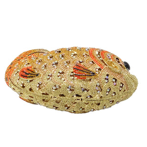 Crystal Rhinestone Goldfish Evening Bag handbag