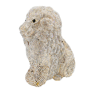 Lion Clutch Purse Bling Rhinestone Clutch Evening Bag