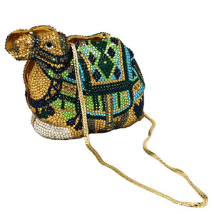 CAMEL Crystal Clutch Purse Rhinestone Clutch Evening Bag