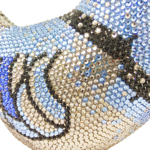 Bird evening Purse Crystal Rhinestone Seal Clutch Bag handbag