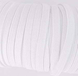 100 yards 1/4 Inch Width Braided Elastic Band White Elastic Cord Heavy Stretch Flat Soft Knit Elastic