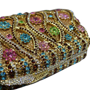 Women Handbag Metal Evening Handbags Clutches Bridal Purse With Crystal Rhinestone-Handbags & Purses - MILANBLOCKS
