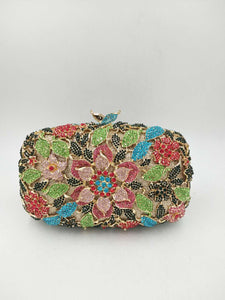 Blooming Flower Luxury Rhinestone Evening Bag-Handbags & Purses - MILANBLOCKS