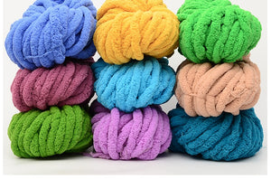Bulky Yarn,Super Chunky Yarn Washable Roving for Arm Knitting Extreme Knitting