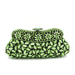 Cheap Green Rhinestone Minaudiere Bridal Wedding Clutches-Handbags & Purses - MILANBLOCKS