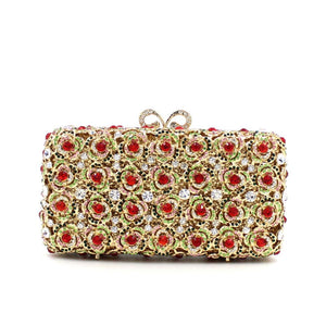 Cheap Prom Bridal Rhinestone Metal Minaudiere Clutch-Handbags & Purses - MILANBLOCKS