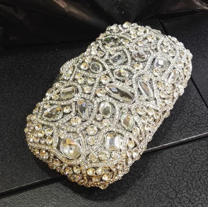 Colorful Crystal Wedding Box Evening Clutches Bridal Bags-Handbags & Purses - MILANBLOCKS