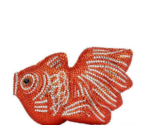 Crystal Rhinestone Goldfish Evening Bag-Handbags & Purses - MILANBLOCKS