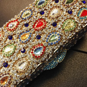 Diamand Crystal Minaudiere Box Evening Clutch-Handbags & Purses - MILANBLOCKS