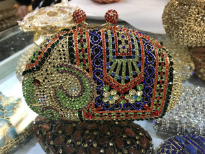 Elephant Rhinestone Miniaudiere Clutch Bag-Handbags & Purses - MILANBLOCKS