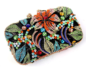 Flower Beach Rhinestone Evening Clutch Luxury Hollow Cut Wedding Purse-Handbags & Purses - MILANBLOCKS