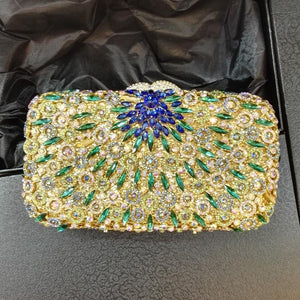 Flower Purses for women Luxury Rhinestone Crystal Evening Bridal Clutch Bags-Handbags & Purses - MILANBLOCKS