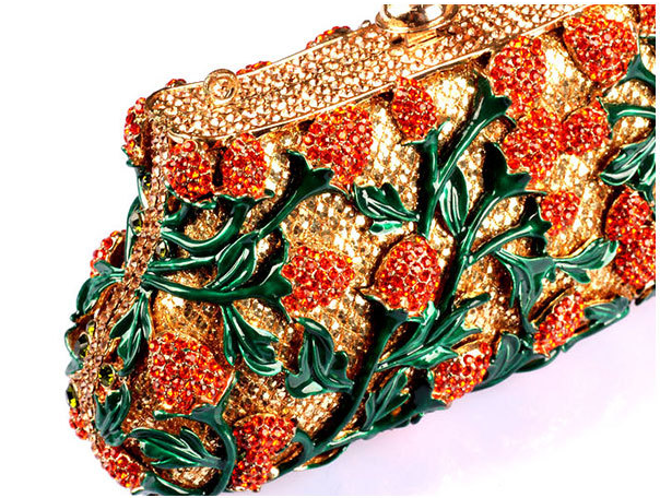 Milanblocks Luxury Rhinestone Flower Hollow Cut Wedding Clutch-Handbags & Purses - MILANBLOCKS
