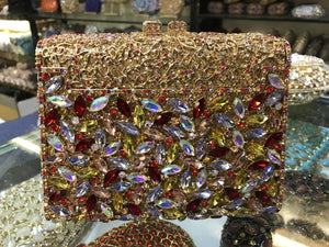 Flower Rhinestone Miniaudiere Clutch Bag-Handbags & Purses - MILANBLOCKS