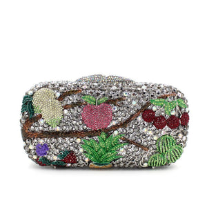 Fruit Rhinestone minaudiere Box Clutch-Handbags & Purses - MILANBLOCKS