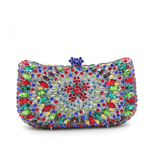 Full Crystal Neon Rhinestone Bling Clutch For Prom-Handbags & Purses - MILANBLOCKS