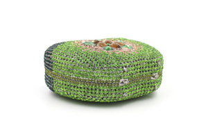 Green Apple Bridal Minaudiere Crystal Clutches for Prom-Handbags & Purses - MILANBLOCKS