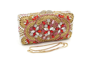 Luxury Handmade Hollow Metal Minaudiere Purse with Rhinestones-Handbags & Purses - MILANBLOCKS