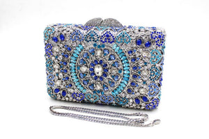 Luxury India Crystal Sparkle Bling Rhienstone Weddign Clutch-Handbags & Purses - MILANBLOCKS