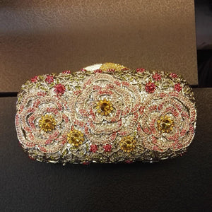 Luxury Rhinestone Crystal Minaudiere Hard Mini Clutch-Handbags & Purses - MILANBLOCKS