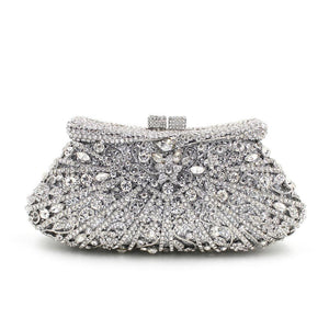Luxury Rhinestone minaudiere box clutches for women wedding, party and prom-Handbags & Purses - MILANBLOCKS