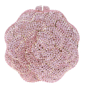 Milanblocks Luxury Rose Full Crystal Rhinestone Evening Clutch-Handbags & Purses - MILANBLOCKS