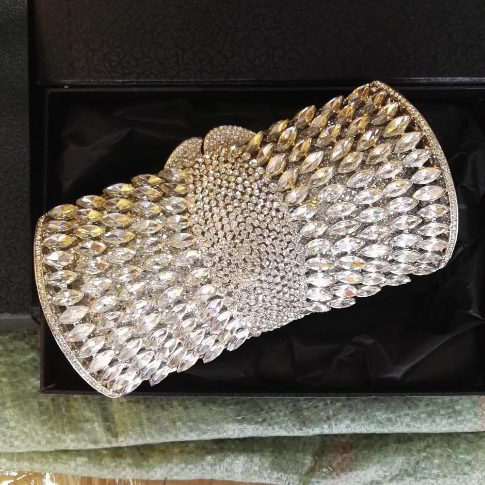 Luxury Sparkle Rhinestone Box Minaudiere Clutch-Handbags & Purses - MILANBLOCKS