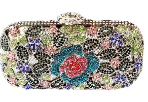 Metal Luxury Hollow Cut Flower Crystal Clutch Wedding Purse-Handbags & Purses - MILANBLOCKS