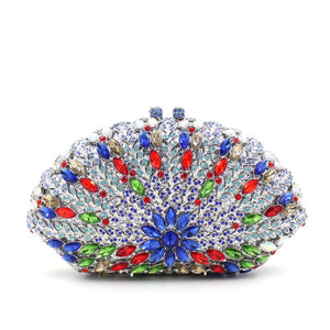 New Luxury Seashell-Shaped Rhinestone Minaudiere Box Clutch For Prom-Handbags & Purses - MILANBLOCKS