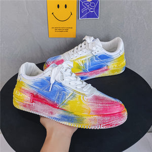 Men's shoes 2021 new air force No.1 niche Paint Sneakers