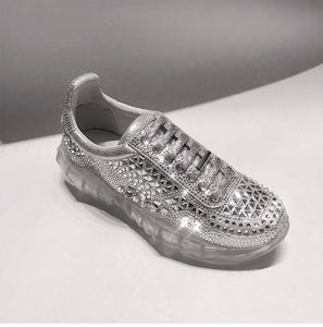 women's shoes new Crystal shiny Sneakers Casual diaphanous Sole