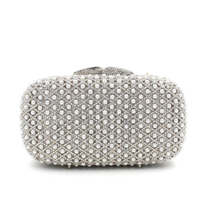 Pearl  Luxury  Rhinestone Crystal Minaudiere Party Hanbdag-Handbags & Purses - MILANBLOCKS