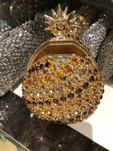 Pineapple Crystal Rhinestone Miniaudiere Clutch Bag-Handbags & Purses - MILANBLOCKS