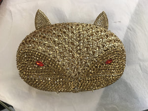 Rhinestone Wolve handmade crystal clutch bag for bridal-Handbags & Purses - MILANBLOCKS