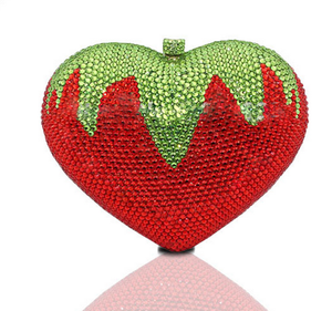 Strawberry Rhinestone Wedding Clutch-Handbags & Purses - MILANBLOCKS