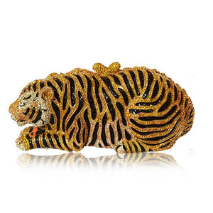 Milanblocks Tiger Clutch Purse Bling Rhinestone Clutch Evening Bag-Handbags & Purses - MILANBLOCKS