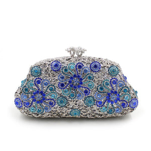 Women Luxury Sun Flower Purses Rhinestone Crystal Evening Bags-Handbags & Purses - MILANBLOCKS