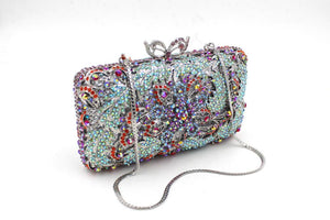 Women Sale Rhinestone Minaudiere Metal Box Clutches For Bridal Prom-Handbags & Purses - MILANBLOCKS