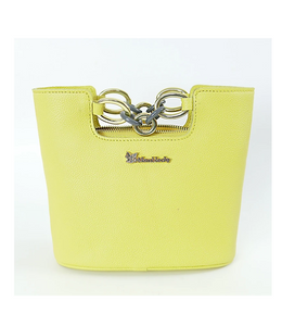 Yellow Leather Italian Leather Vintage Tote Handbag Purses and Handbags