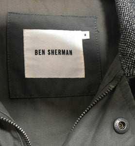 Ben Sherman khaki green parka jacket, sz. M, near new