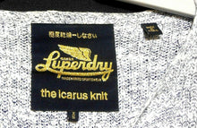Load image into Gallery viewer, Superdry The Icarus knit, soft grey cotton sweater, sz. 10-12/XS, NWOT