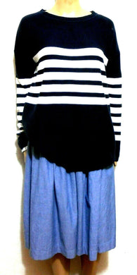 Seed Heritage cotton sweater, dark blue nautical style, sz. 10-14/XS