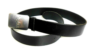 Ralph Lauren wide leather belt, steel buckle, sz. 34, black, exc. cnd.
