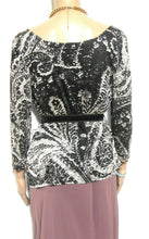 Load image into Gallery viewer, Max Mara  stretch top with velvet belt, sz. 10-14/L near new Made in Italy