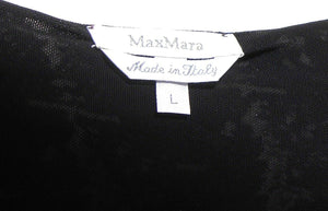 Max Mara  stretch top with velvet belt, sz. 10-14/L near new Made in Italy